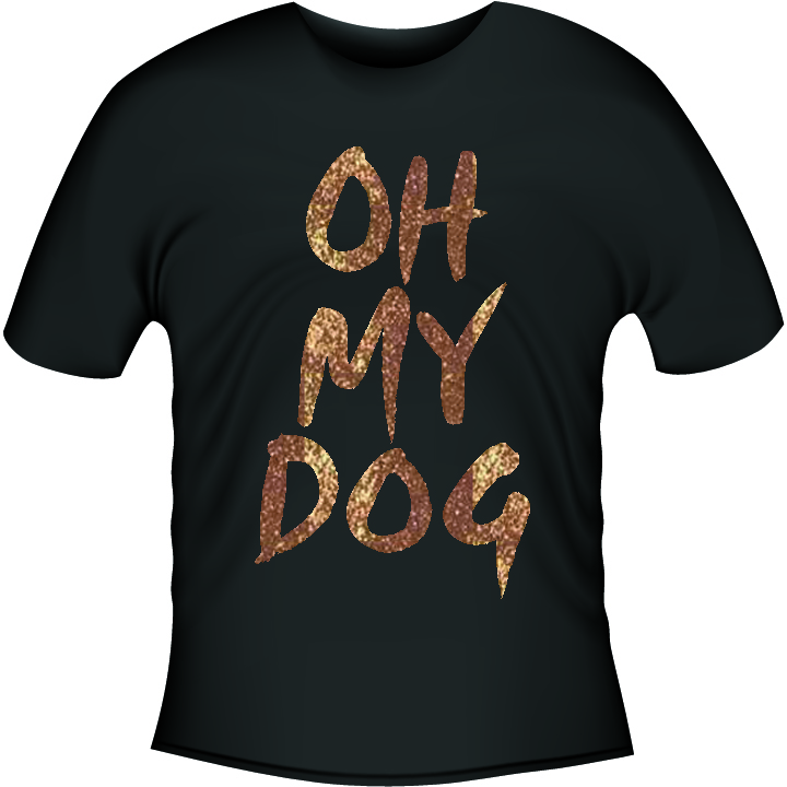 Haus of Harley OH MY DOG T-Shirt Black