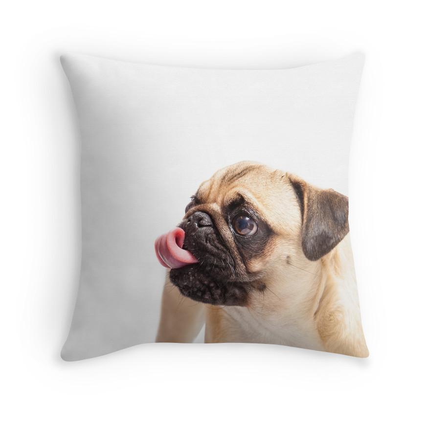 Haus of Harley Pugalicious Throw Cushion