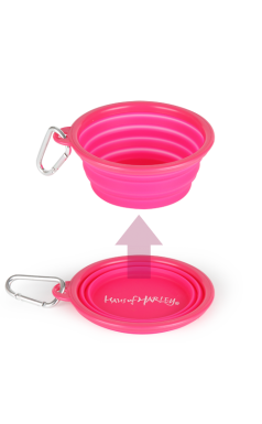 Pop-up Silicone Travel Bowl - Pink