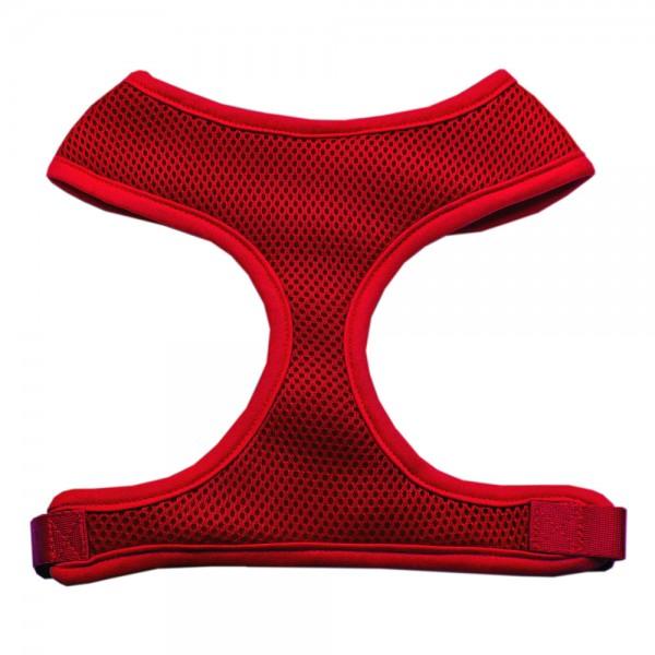 Barking Basics Soft Mesh Harness - Red